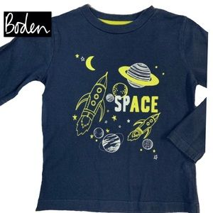 Boden's Awesome Space Tee! Sz 2-3.